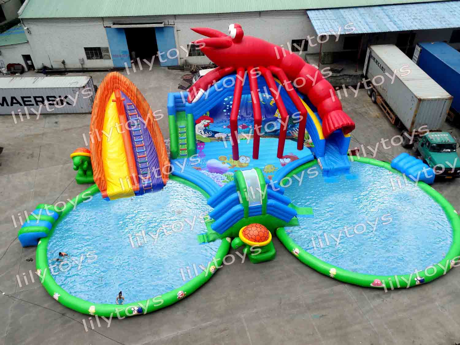 Huge shrimp water park