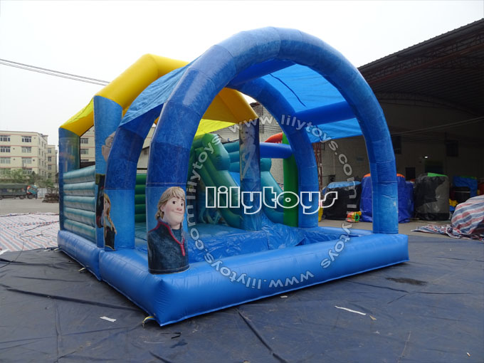 water slide with tent